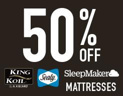 50% off mattresses