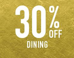 30% off dining