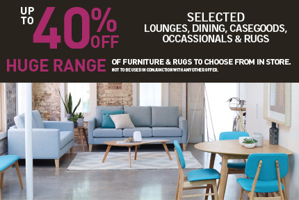 '40% of selected furniture
