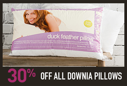 30% Off Downia pillows