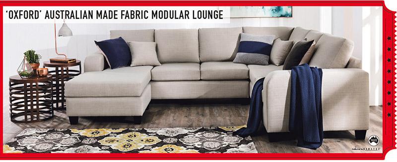 OXFORD 3-Piece Fabric Modular Lounge