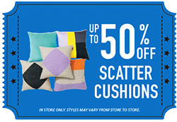 Up To 50% Off Scatter Cushions
