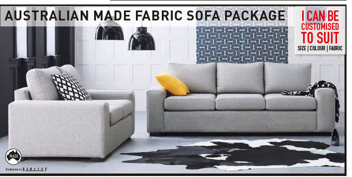'BYRON' 2-SEATER + 3-SEATER FABRIC SOFA PACKAGE