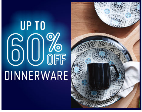 60% off dinnerware