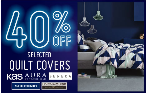 40% off selected quilt covers