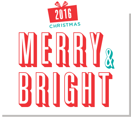 [2016 christmas merry & bright logo]