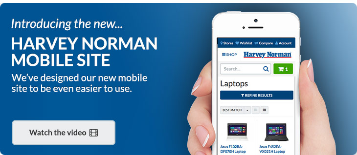 Introducing the new Harvey Norman mobile site