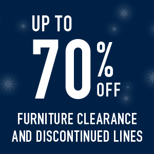 Up to 70% off Furniture clearance and discontinued lines