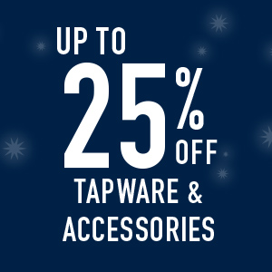 up to 25% off tapware and accessories