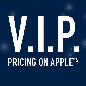 V.I.P pricing on apple