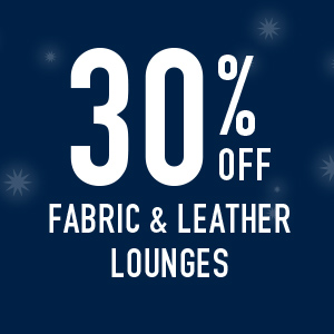 30% off Fabric and Leather lounges
