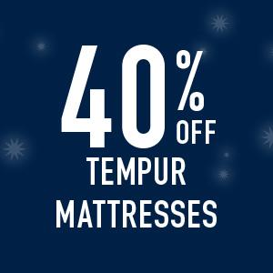 40% off tempur matresses