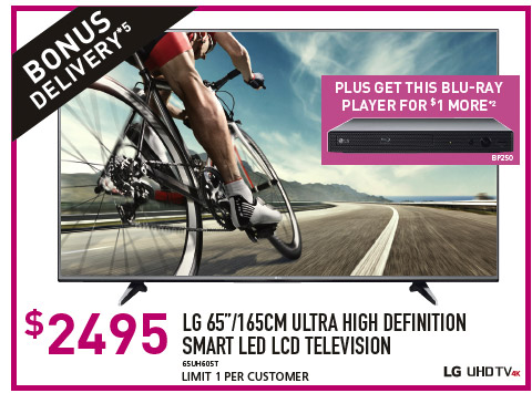 "LG 65""/165CM ULTRA HIGH DEFINITION SMART LED LCD TELEVISION"
