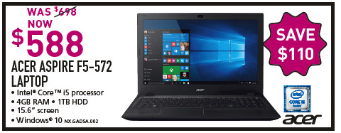 ACER ASPIRE E5-572 LAPTOP