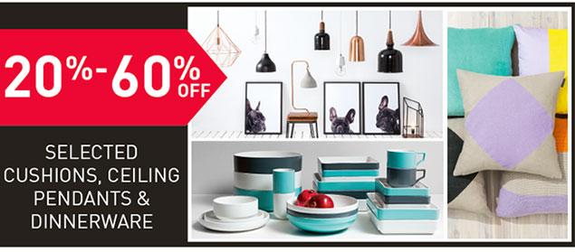 20%-60% Off Selected Dinnerware...
