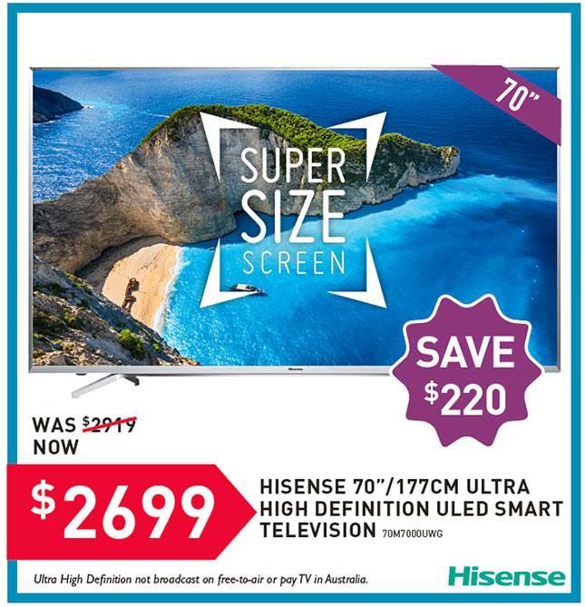 Hisense 70 TV