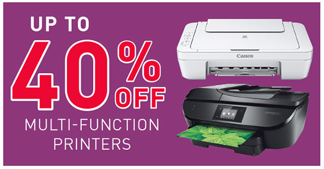 Up To 40% Off Multi-Function Printers