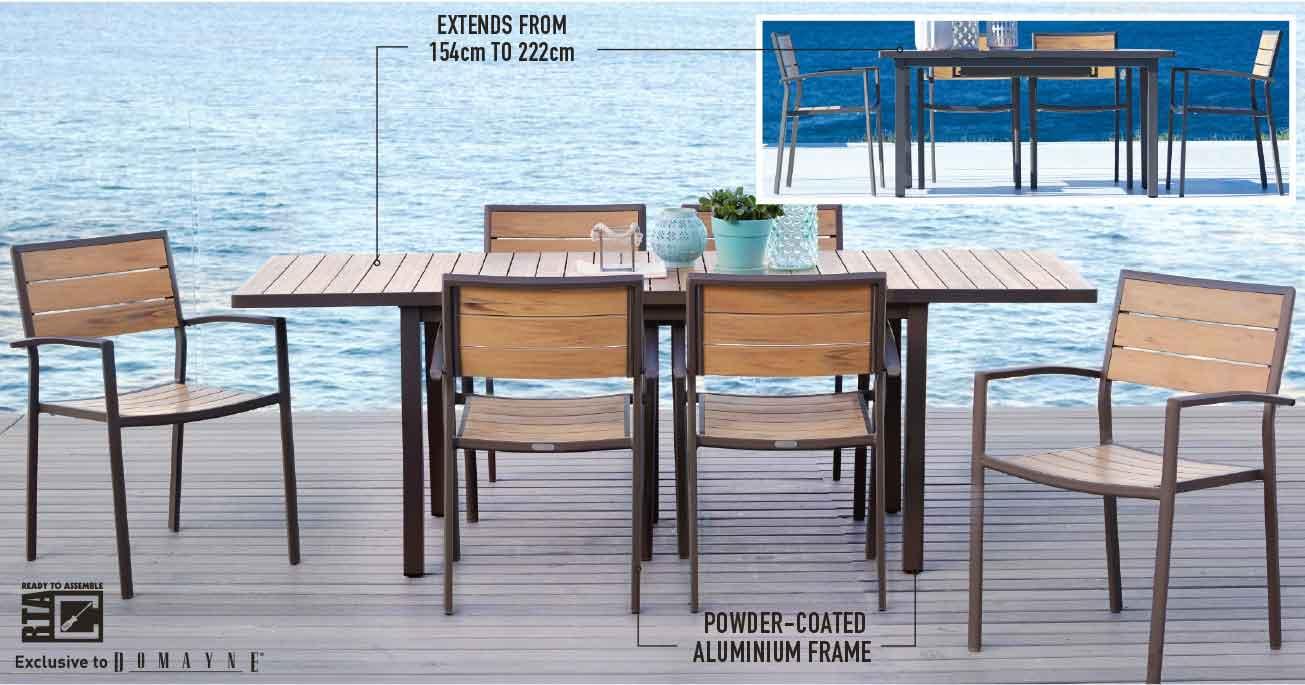 'Capri' ourdoor extension balcony table