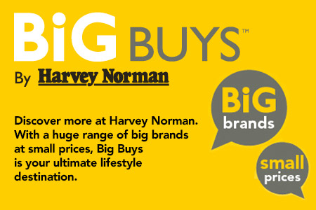 Discover more at Harvey Norman. With a huge range of big brands  at small prices, Big Buys is your ultimate lifestyle destination.