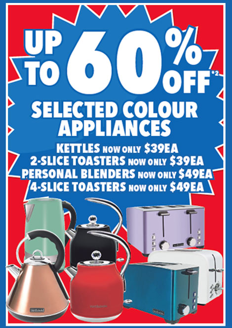 60% Coloured Appliances