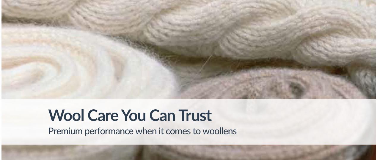 Woolmark Platinum Care. An Exclusive Regenerating Treatment.
